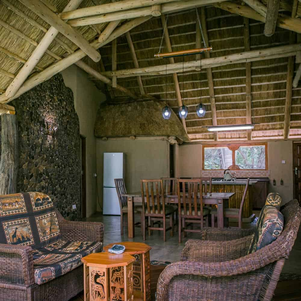 Hippo Pools Lodge Dining and Seating Area